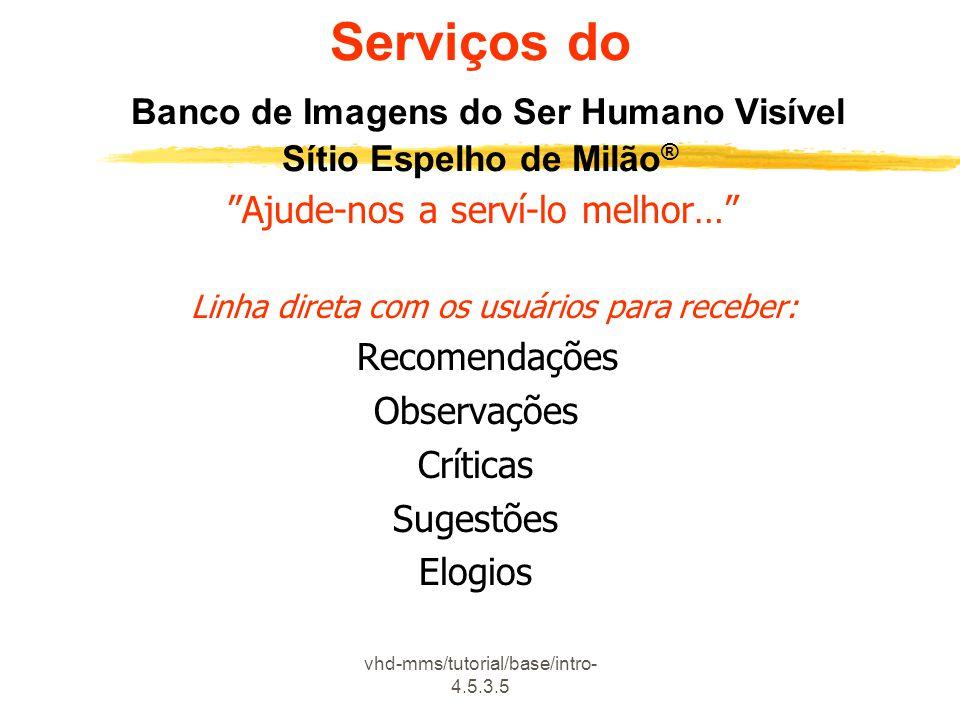 Serviços do Banco de Imagens do Ser Humano Visível Sítio Espelho de Milão®