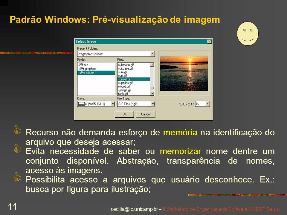 Padrão Windows: Pré-visualização de imagem