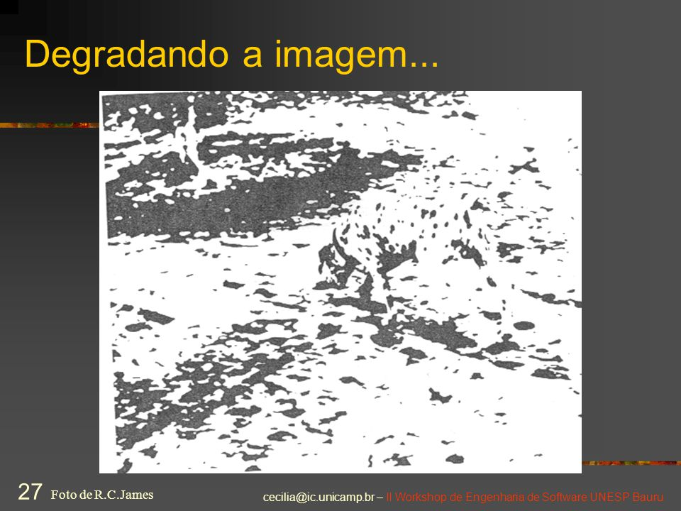Degradando a imagem... Foto de R.C.James