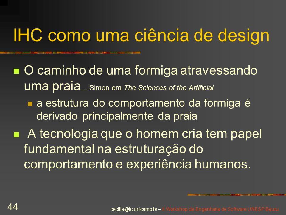 IHC como uma ciência de design