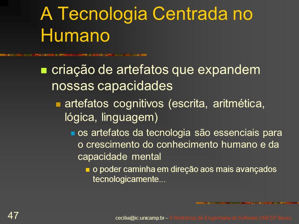 A Tecnologia Centrada no Humano