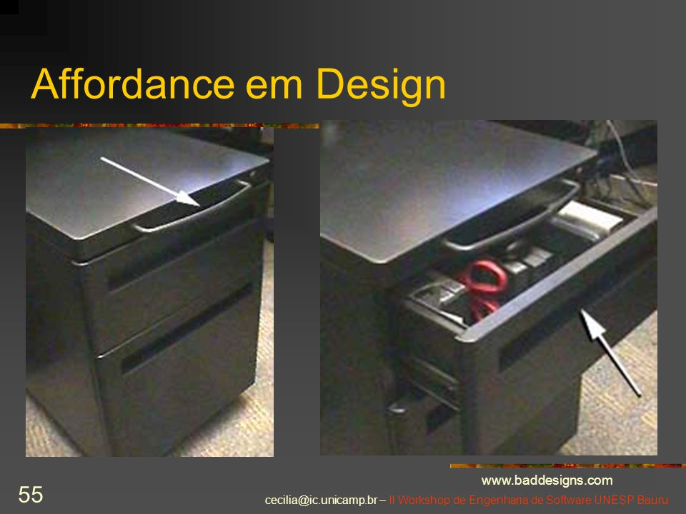 Affordance em Design www.baddesigns.com
