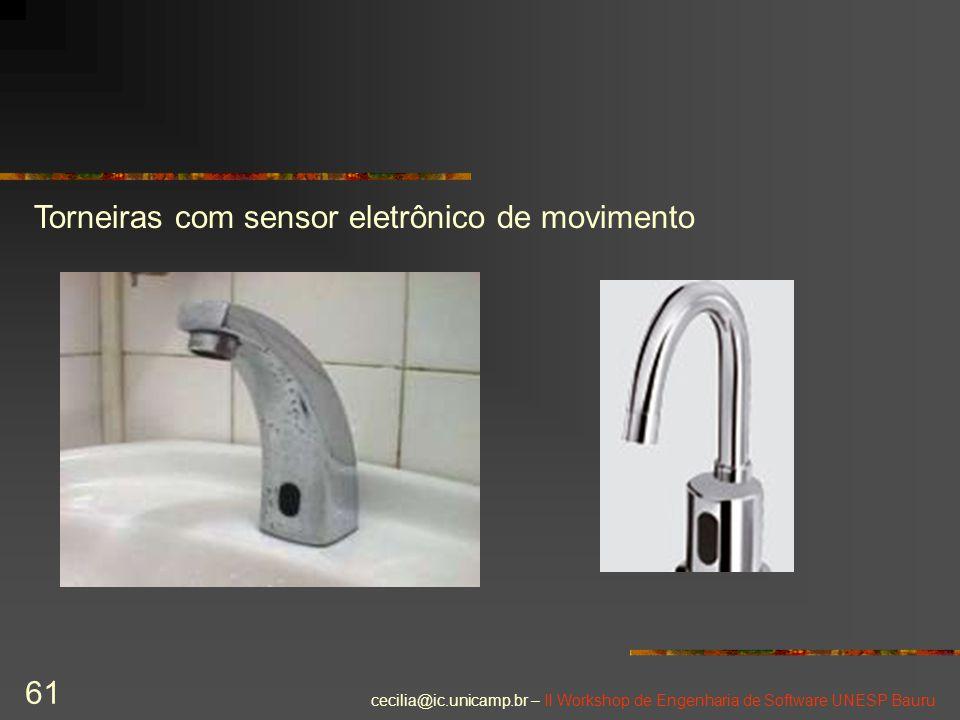 Torneiras com sensor eletrônico de movimento