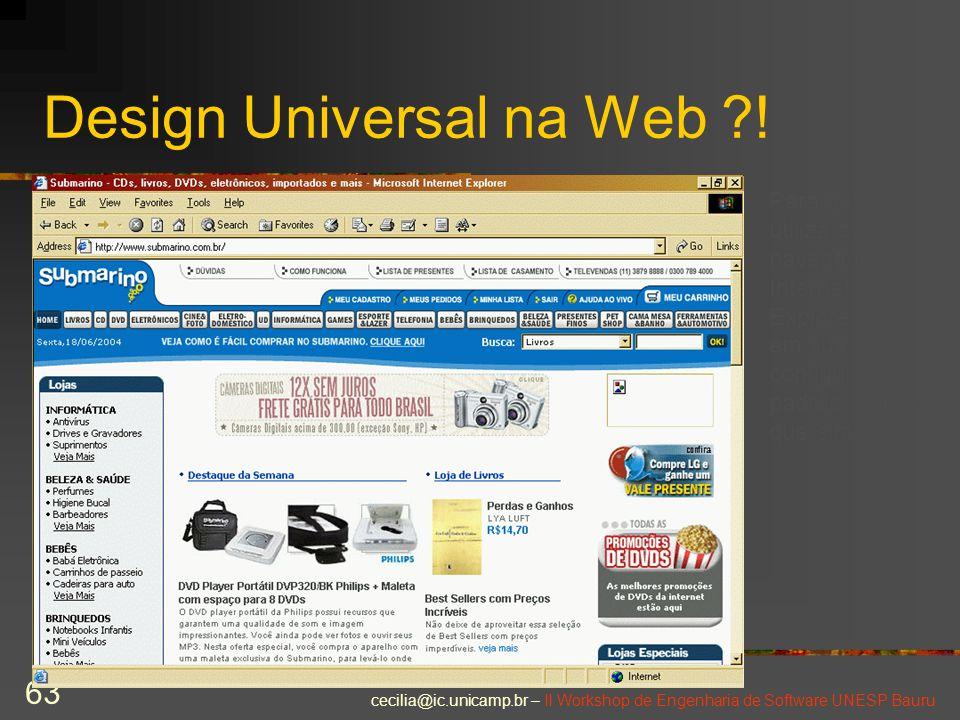 Design Universal na Web !