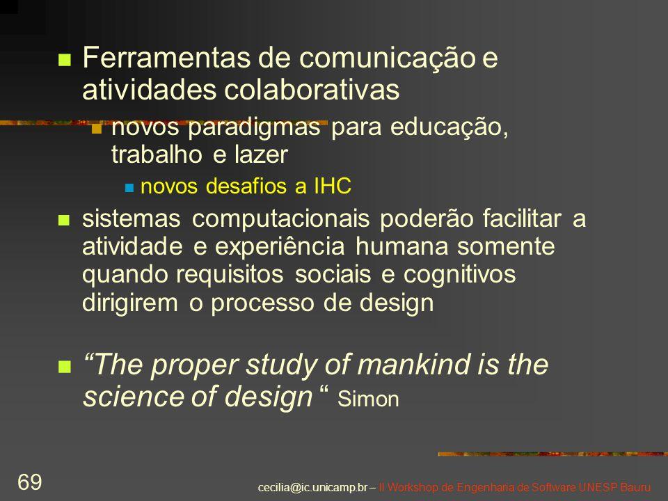 Ferramentas de comunicação e atividades colaborativas