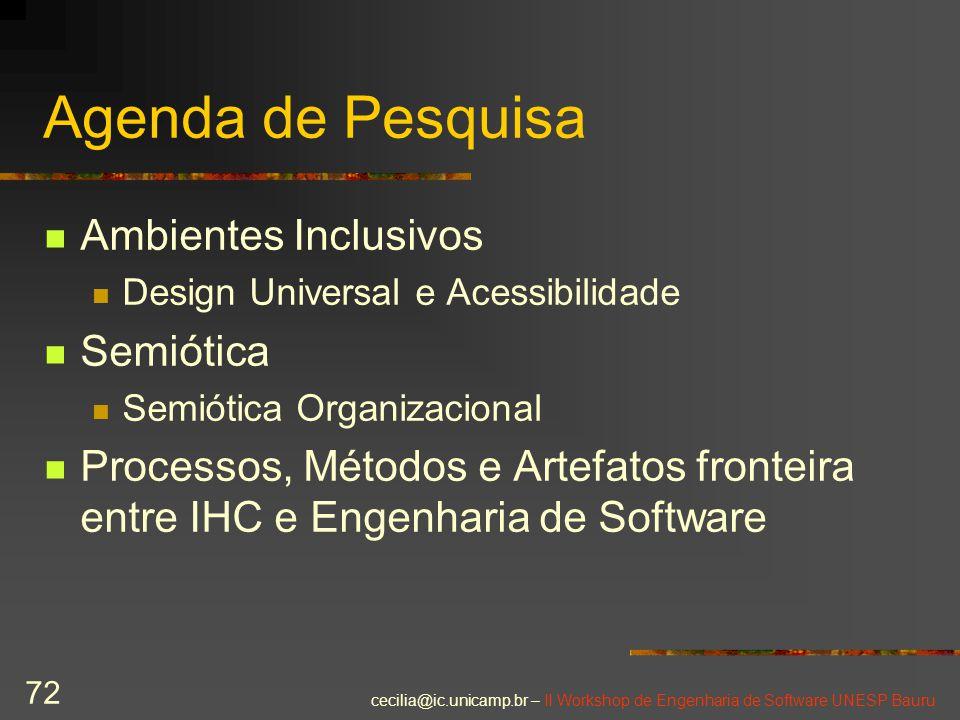 Agenda de Pesquisa Ambientes Inclusivos Semiótica