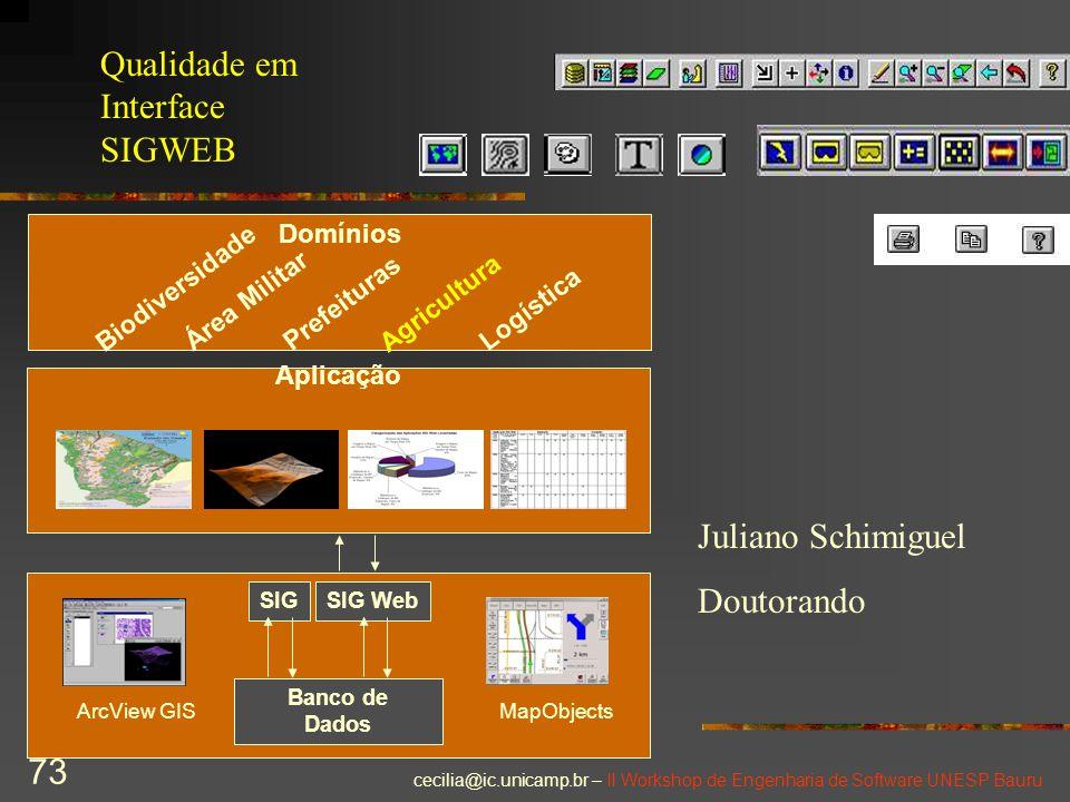 Qualidade em Interface SIGWEB