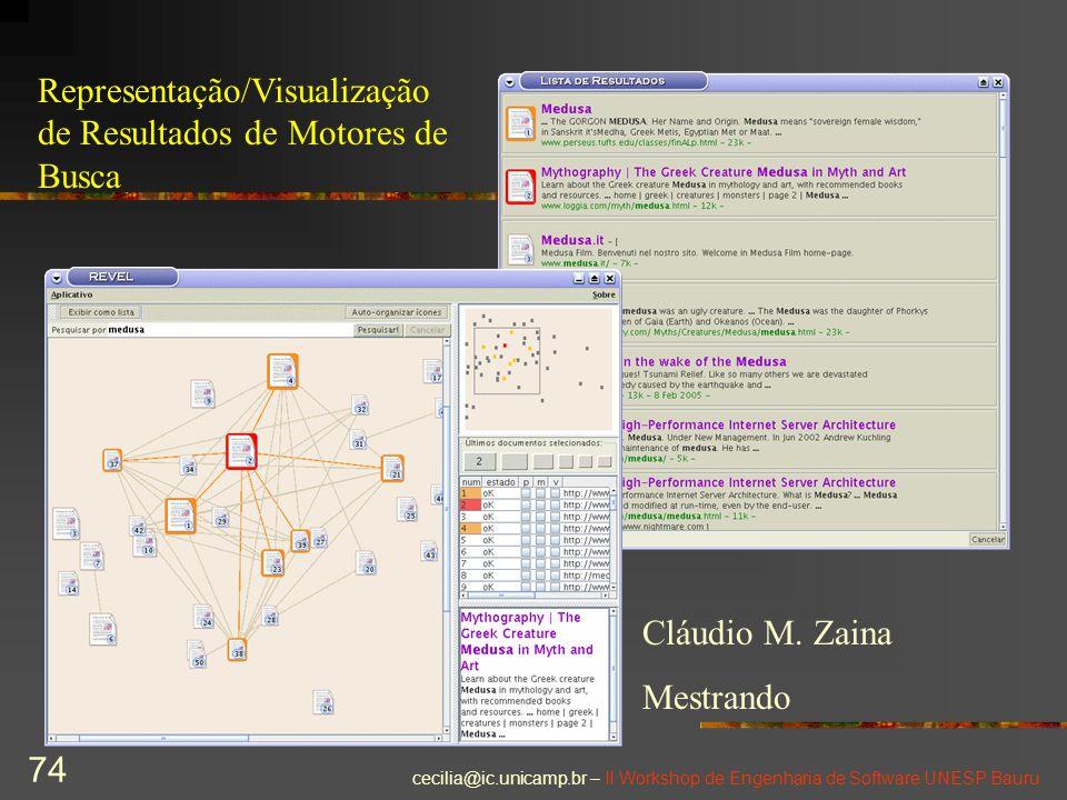 Representação/Visualização de Resultados de Motores de Busca