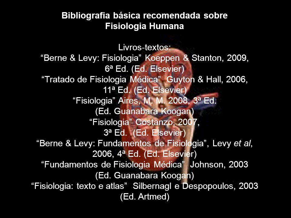 Bibliografia básica recomendada sobre Fisiologia Humana