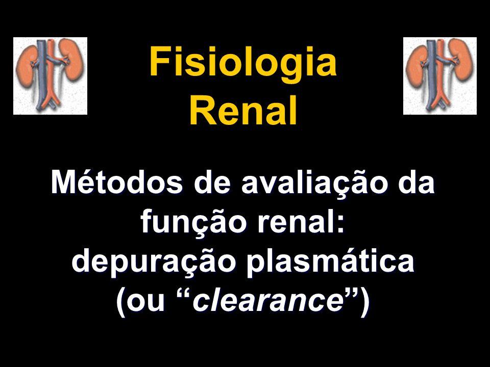 Métodos de avaliação da função renal: