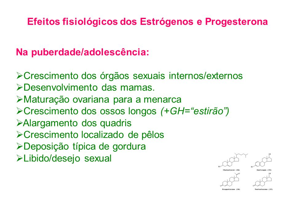 Efeitos fisiológicos dos Estrógenos e Progesterona