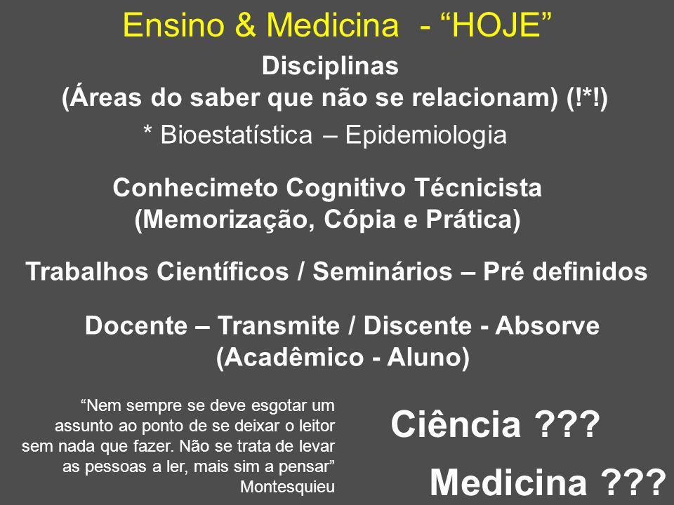 Ciência Medicina Ensino & Medicina - HOJE Disciplinas