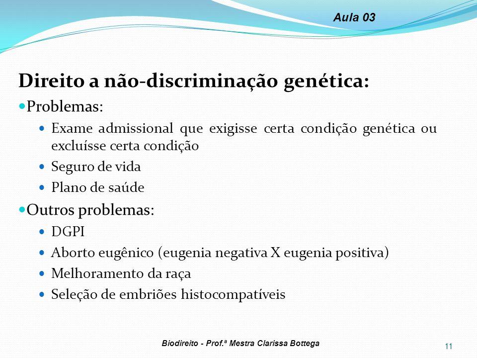 Direito a não-discriminação genética: