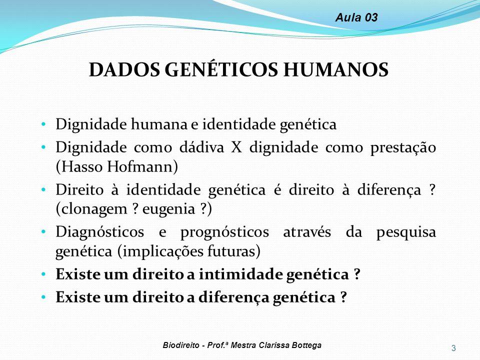 DADOS GENÉTICOS HUMANOS