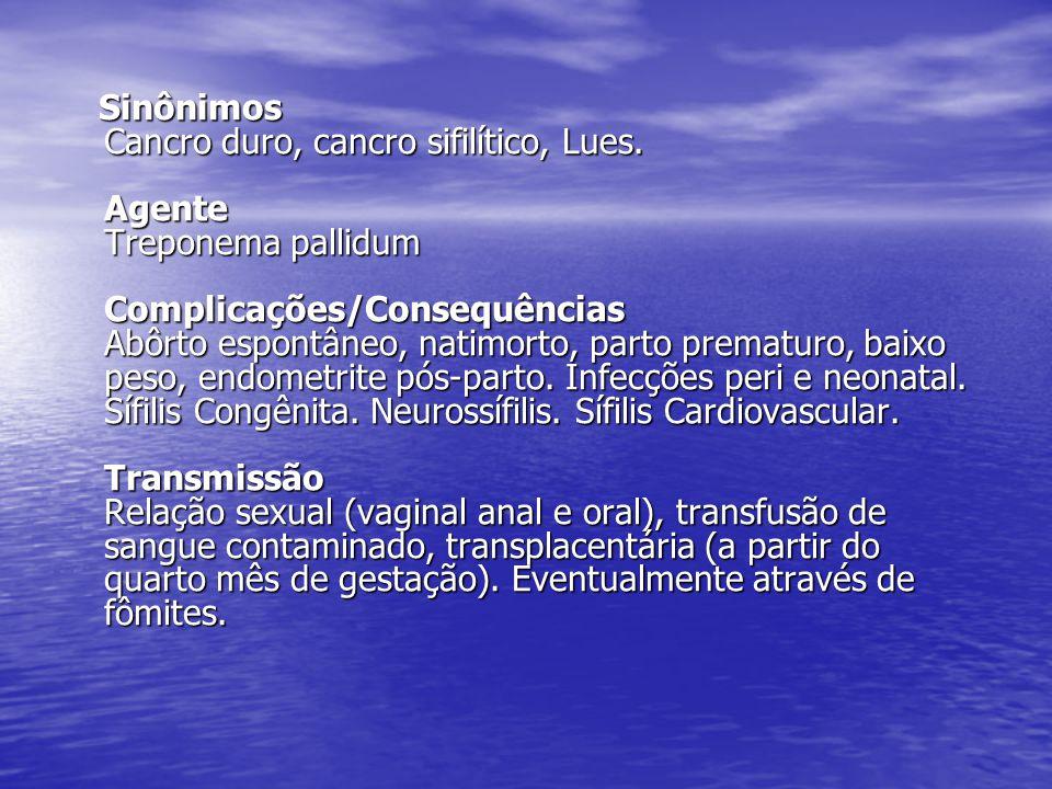 Sinônimos Cancro duro, cancro sifilítico, Lues
