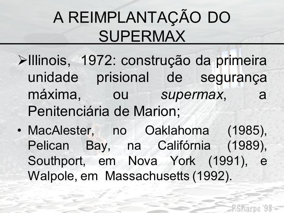 A REIMPLANTAÇÃO DO SUPERMAX