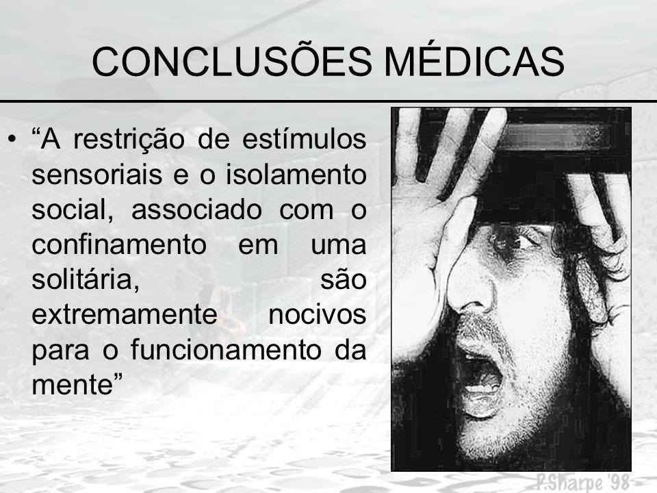 CONCLUSÕES MÉDICAS