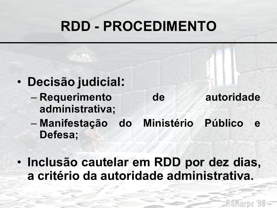 RDD - PROCEDIMENTO Decisão judicial: