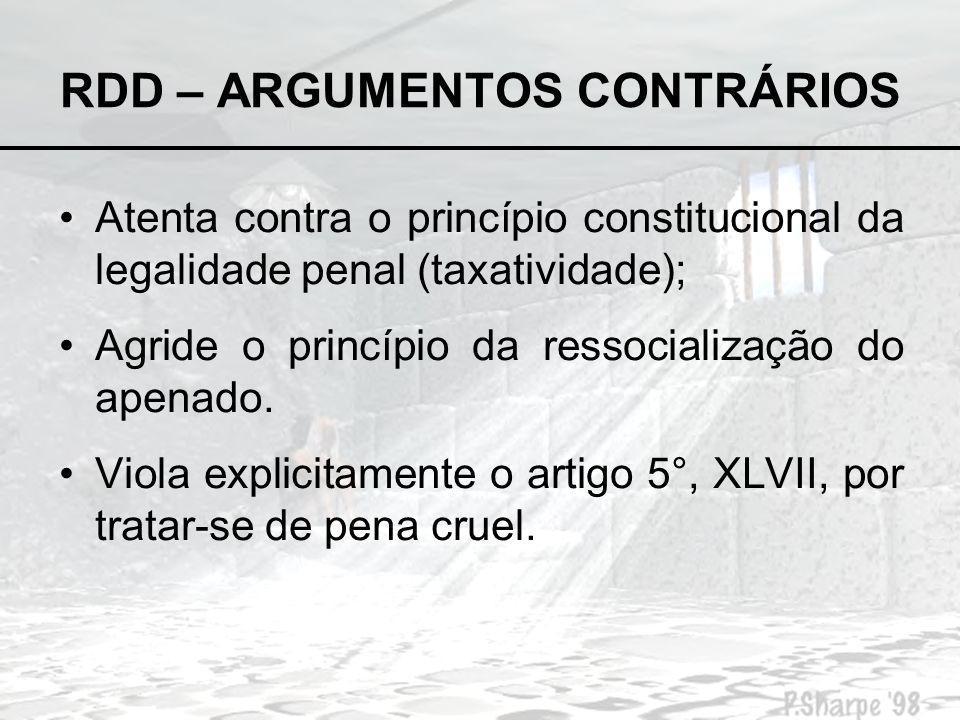 RDD – ARGUMENTOS CONTRÁRIOS