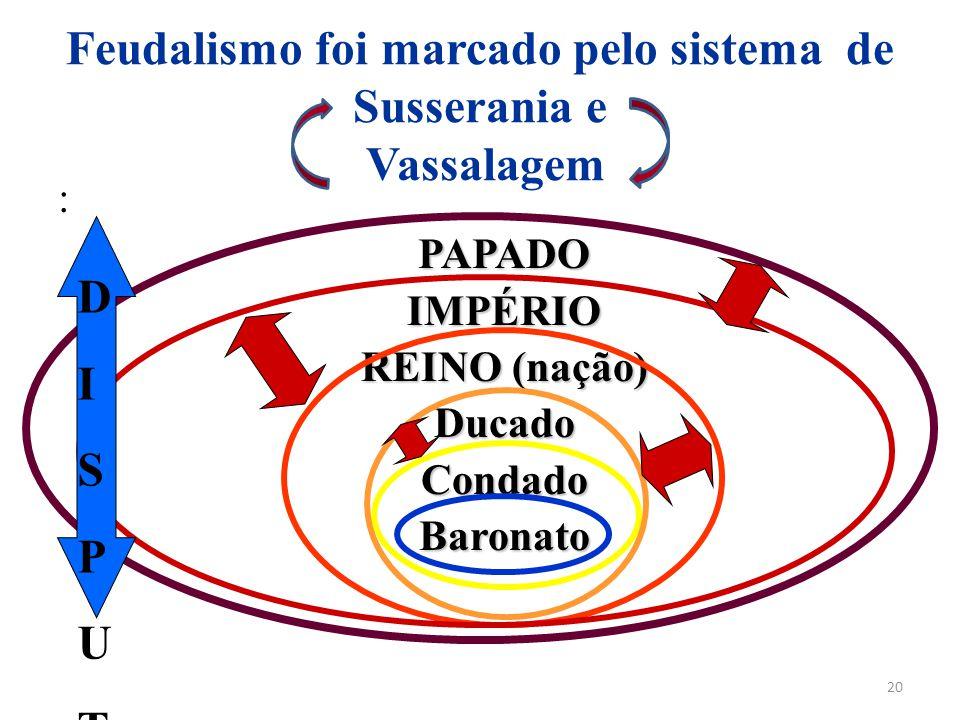 Feudalismo foi marcado pelo sistema de Susserania e Vassalagem