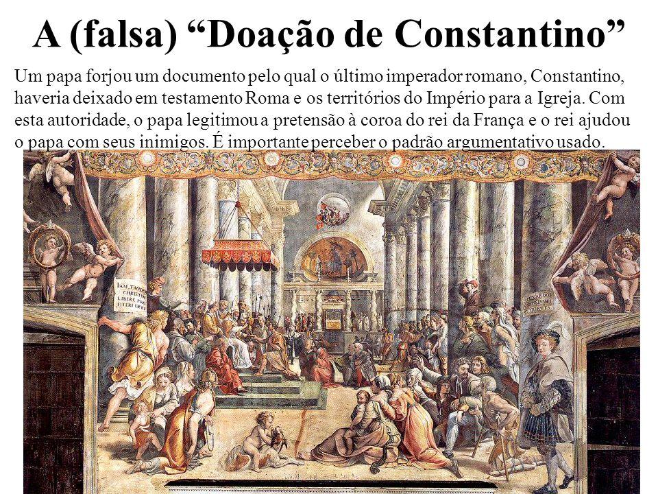 A (falsa) Doação de Constantino