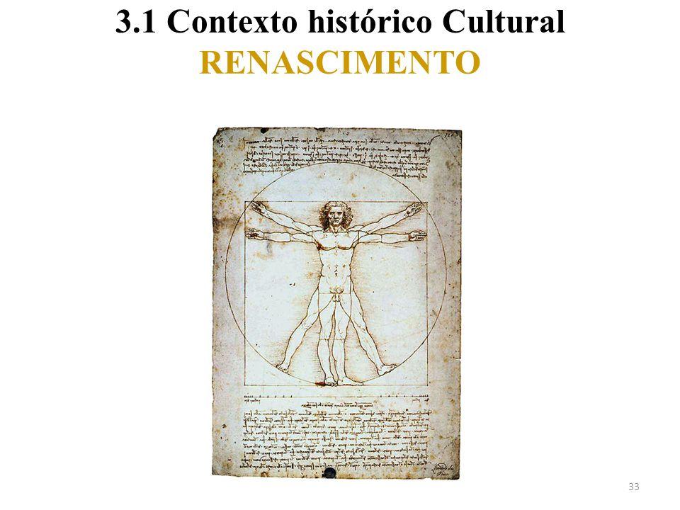 3.1 Contexto histórico Cultural RENASCIMENTO