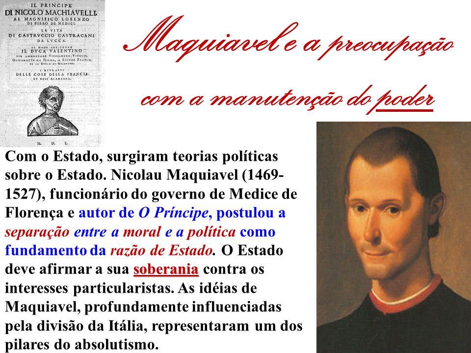 Maquiavel e a preocupação com a manutenção do poder