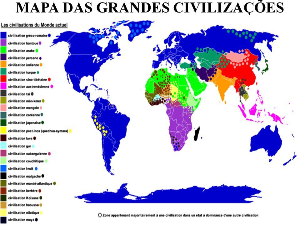 MAPA DAS GRANDES CIVILIZAÇÕES