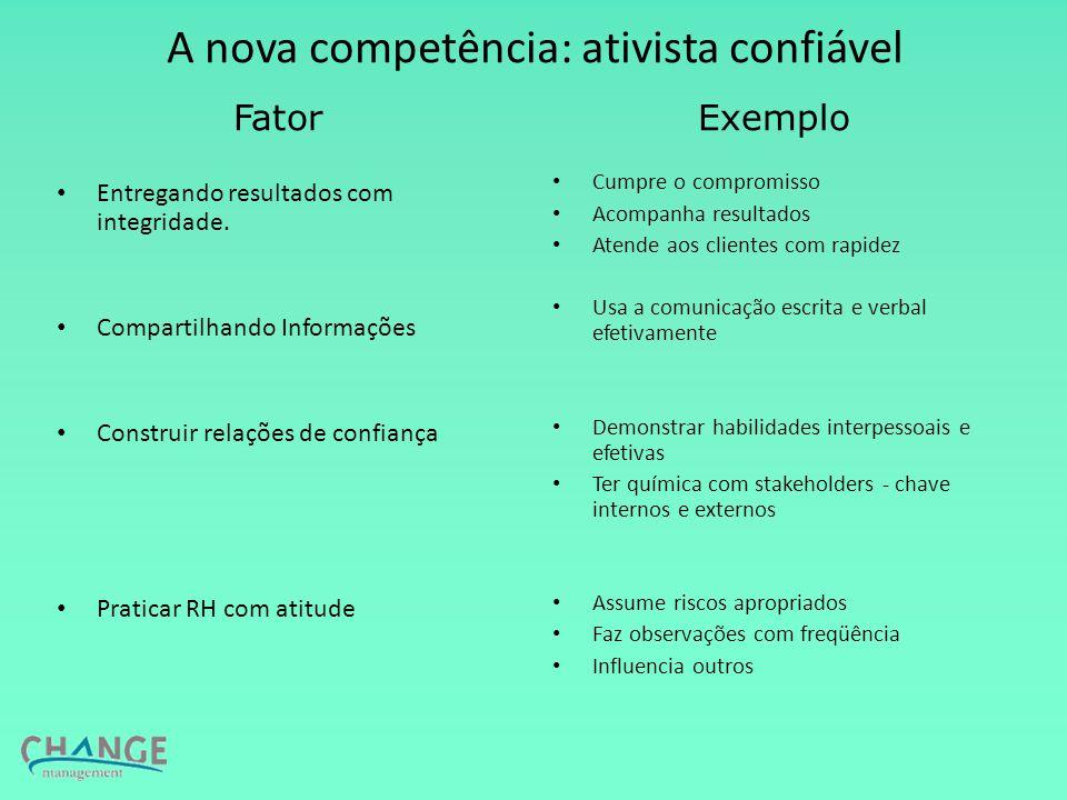 A nova competência: ativista confiável