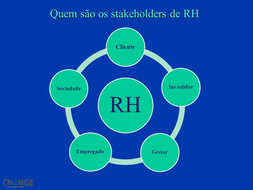 Quem são os stakeholders de RH