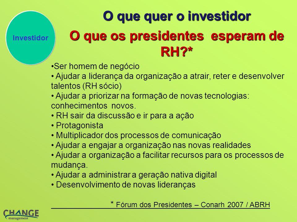 O que os presidentes esperam de RH *