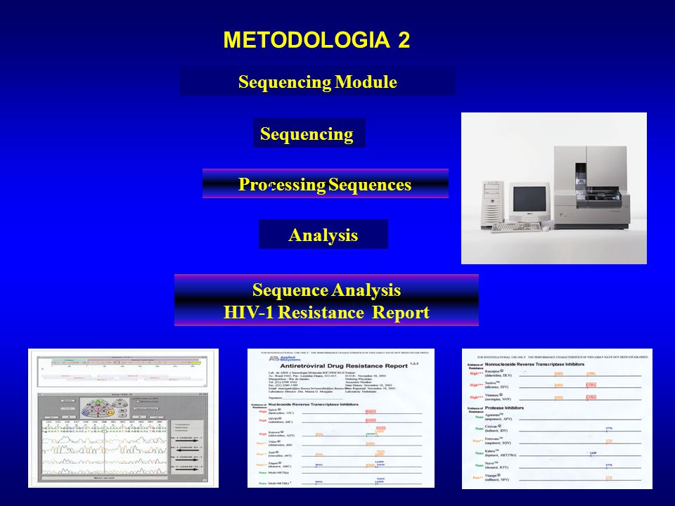 Sequence Analysis HIV-1 Resistance Report