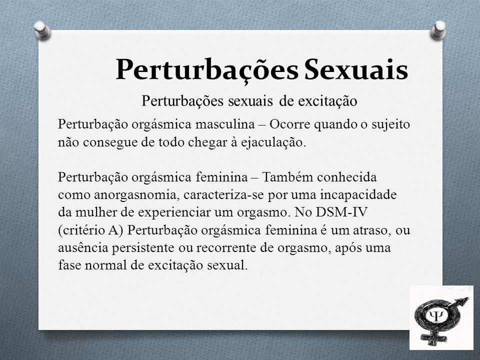 Perturbações sexuais de excitação