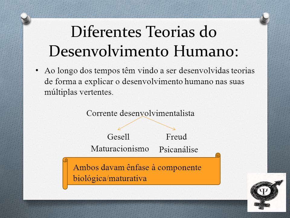 Diferentes Teorias do Desenvolvimento Humano: