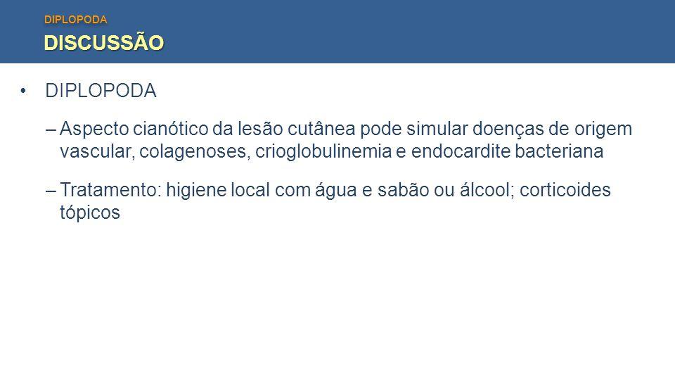 DISCUSSÃO DIPLOPODA.