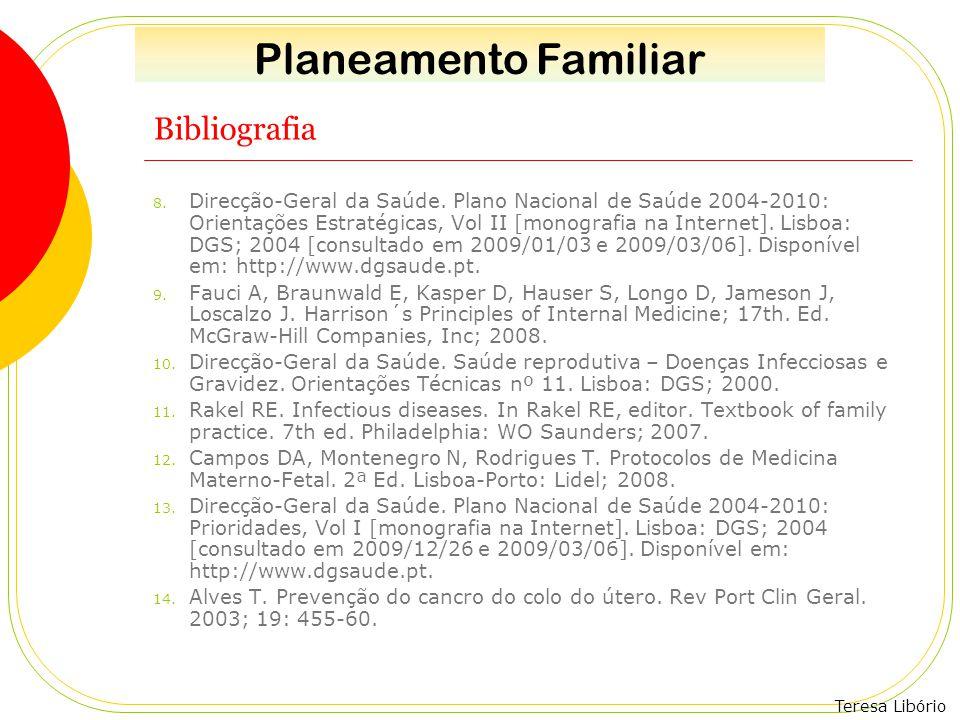Planeamento Familiar Bibliografia