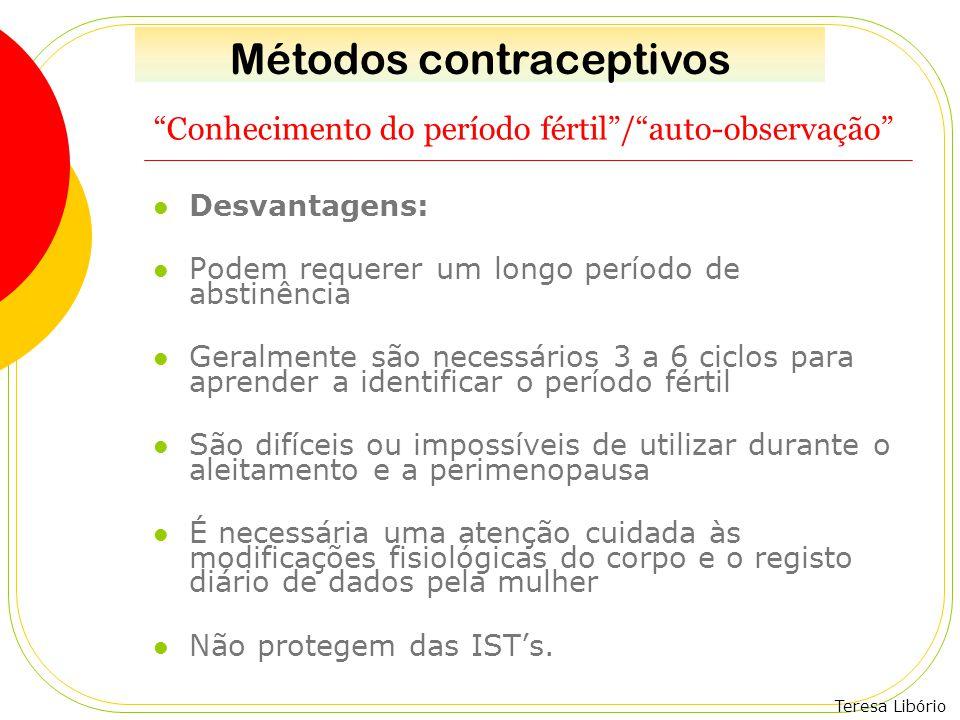 Conhecimento do período fértil / auto-observação