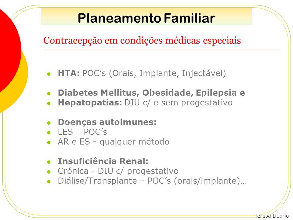 Contracepção em condições médicas especiais
