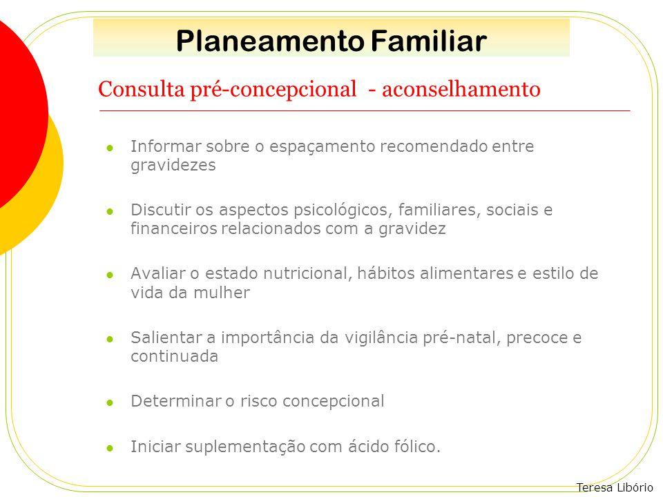 Consulta pré-concepcional - aconselhamento
