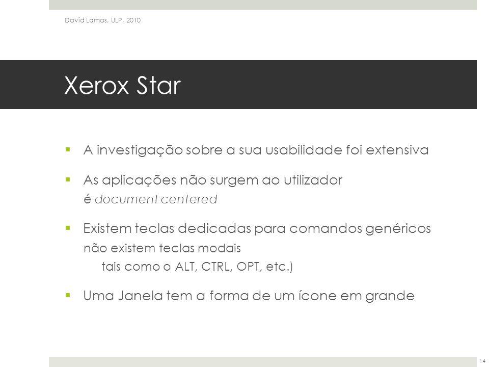 Xerox Star A investigação sobre a sua usabilidade foi extensiva