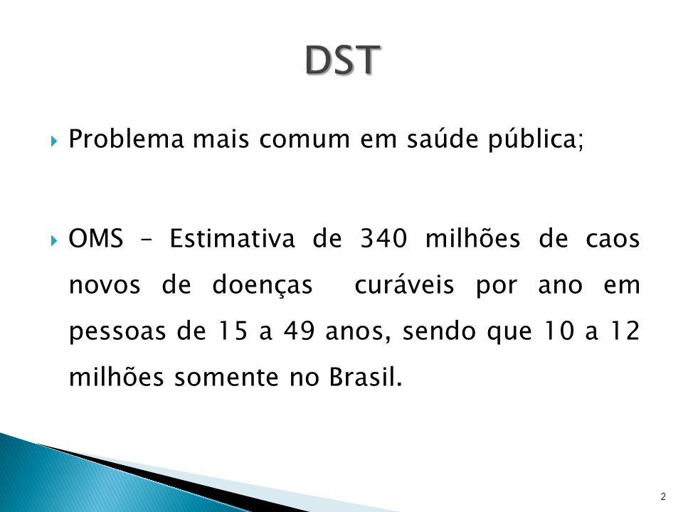 DST Problema mais comum em saúde pública;