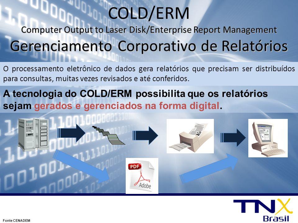 COLD/ERM Computer Output to Laser Disk/Enterprise Report Management Gerenciamento Corporativo de Relatórios