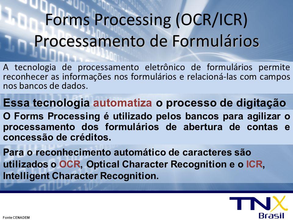 Forms Processing (OCR/ICR) Processamento de Formulários