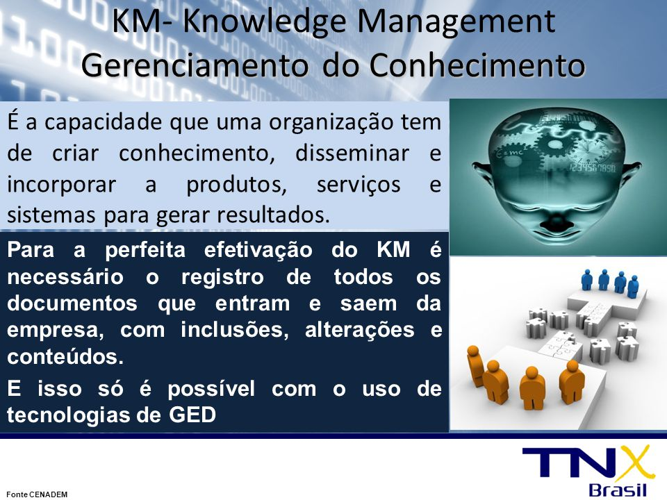KM- Knowledge Management Gerenciamento do Conhecimento