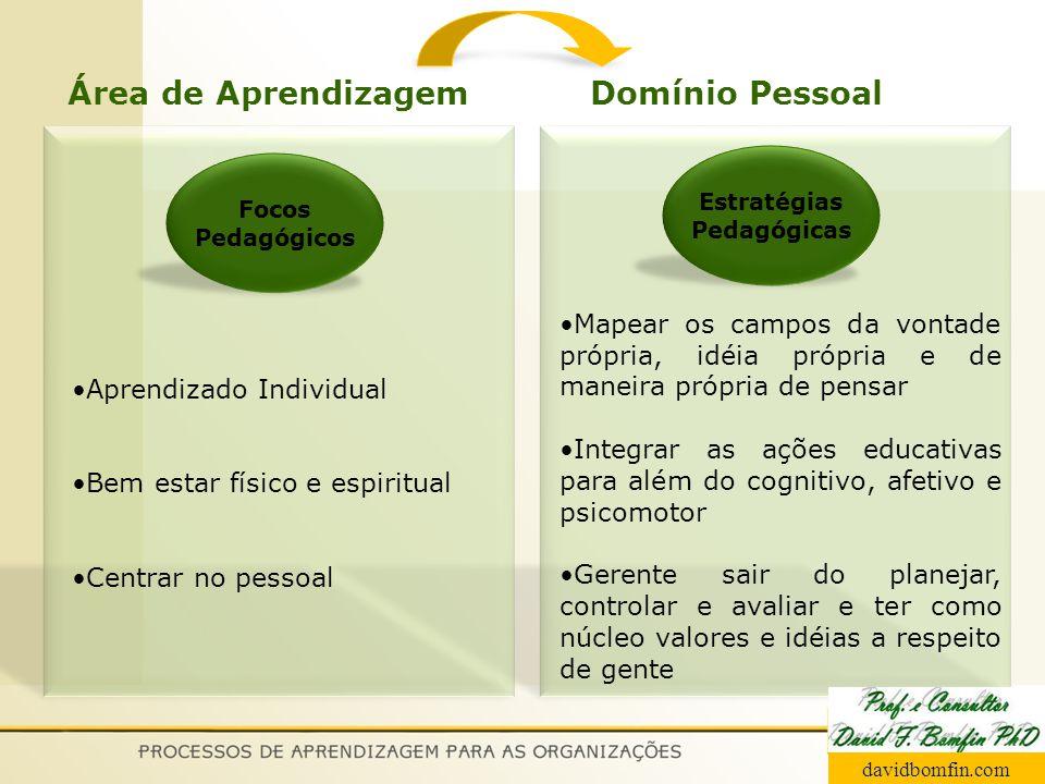 Área de Aprendizagem Domínio Pessoal