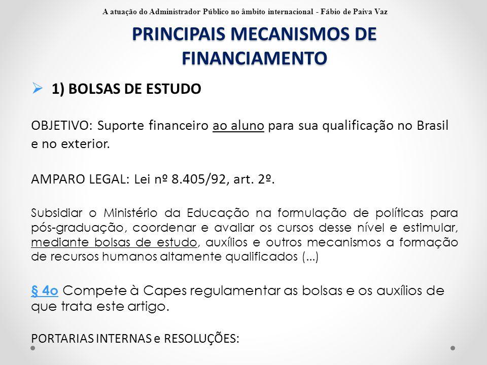 PRINCIPAIS MECANISMOS DE FINANCIAMENTO