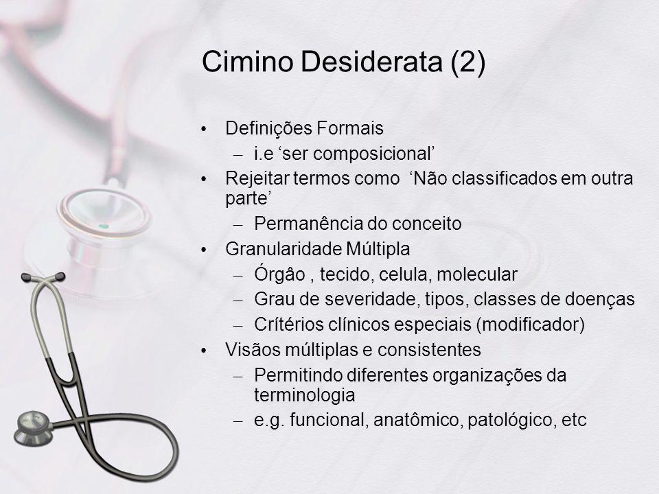Cimino Desiderata (2) Definições Formais i.e 'ser composicional'