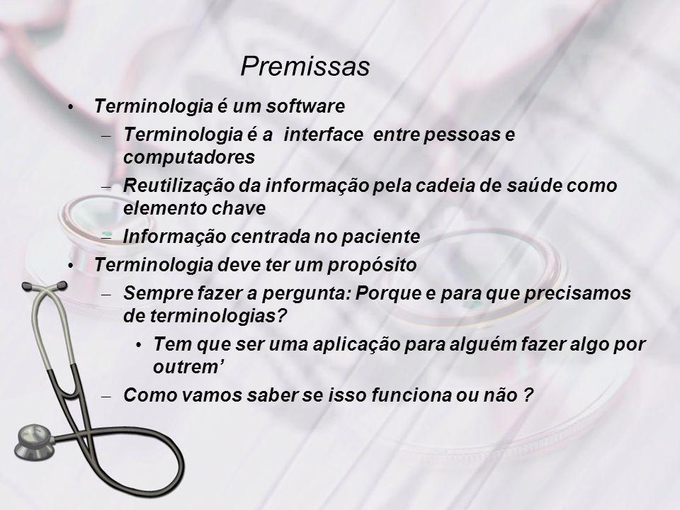 Premissas Terminologia é um software