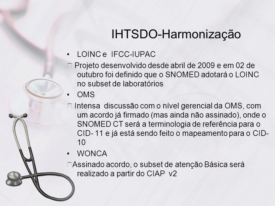 IHTSDO-Harmonização LOINC e IFCC-IUPAC