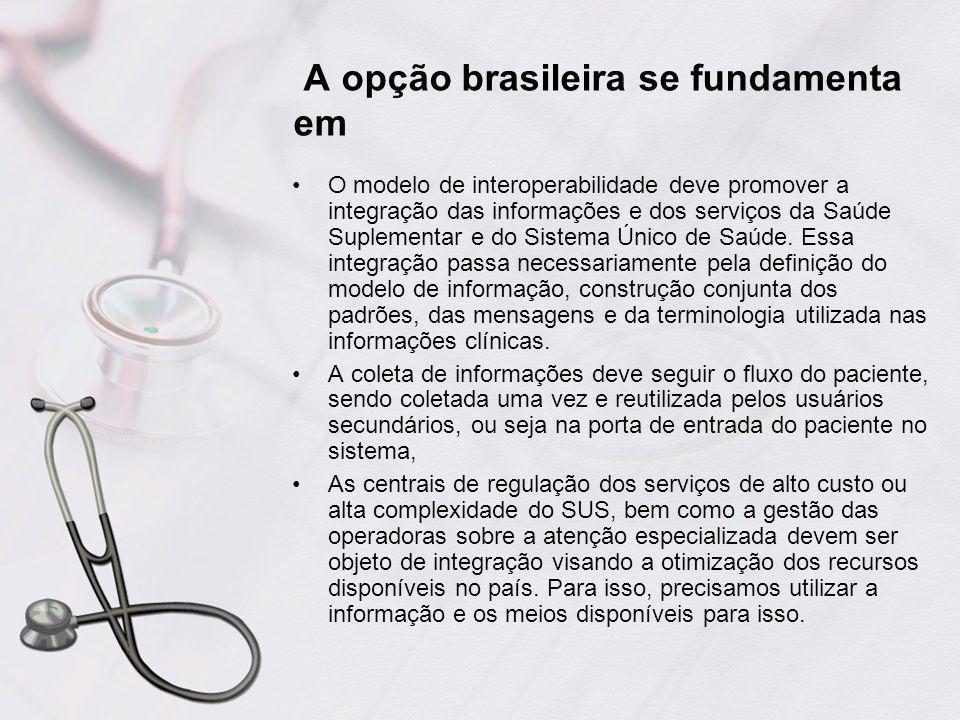 A opção brasileira se fundamenta em
